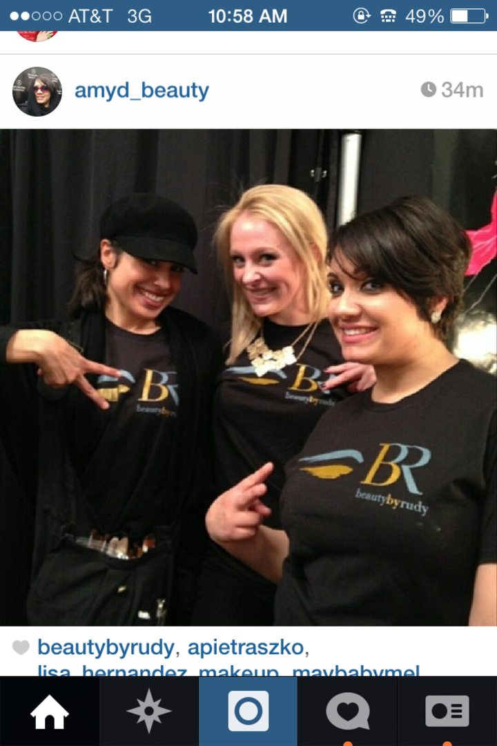 Beautybyrudy Makeup Team: Ny Fashion Week T-Shirt Photo