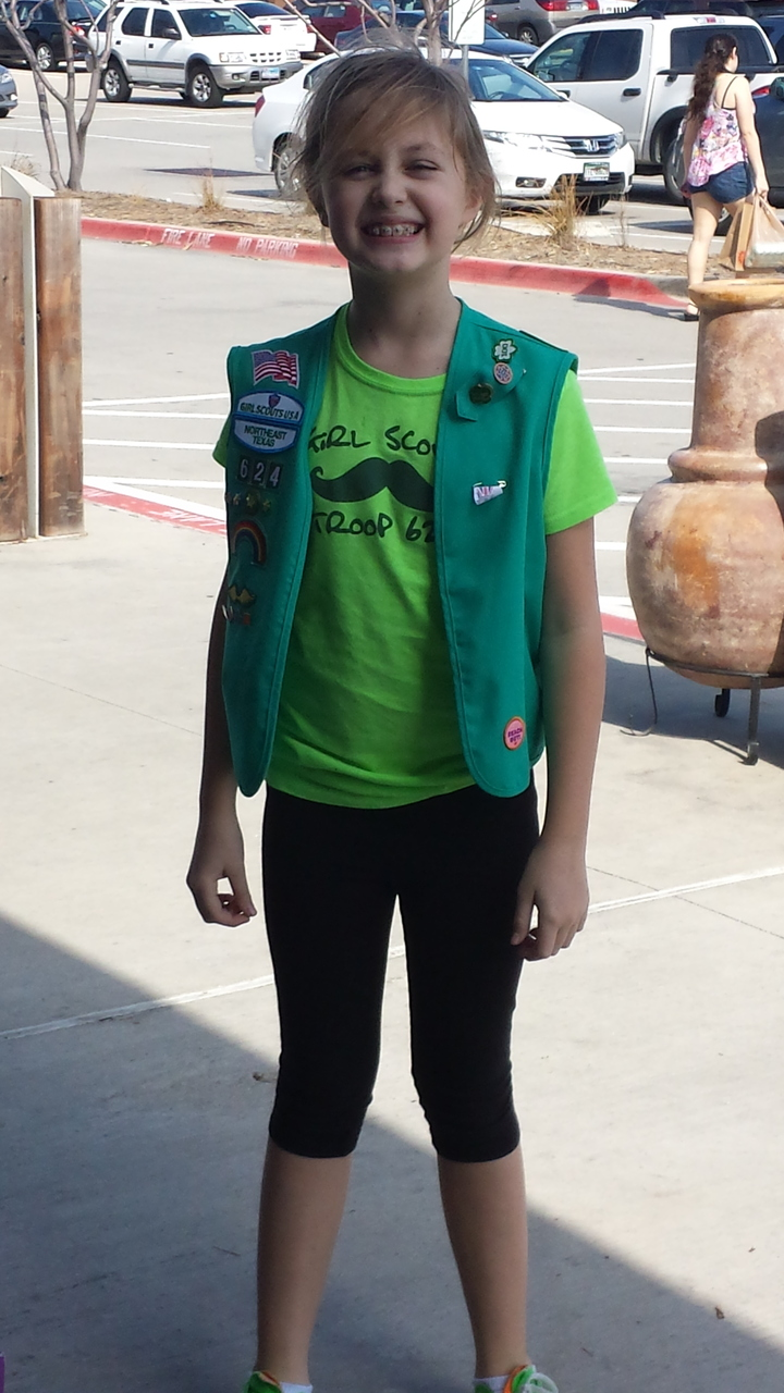 Avery With Girl Scouts Troop 624 T-Shirt Photo