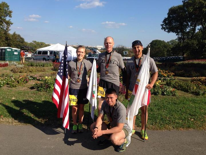 Marine Corps Marathon Veterans Team T-Shirt Photo