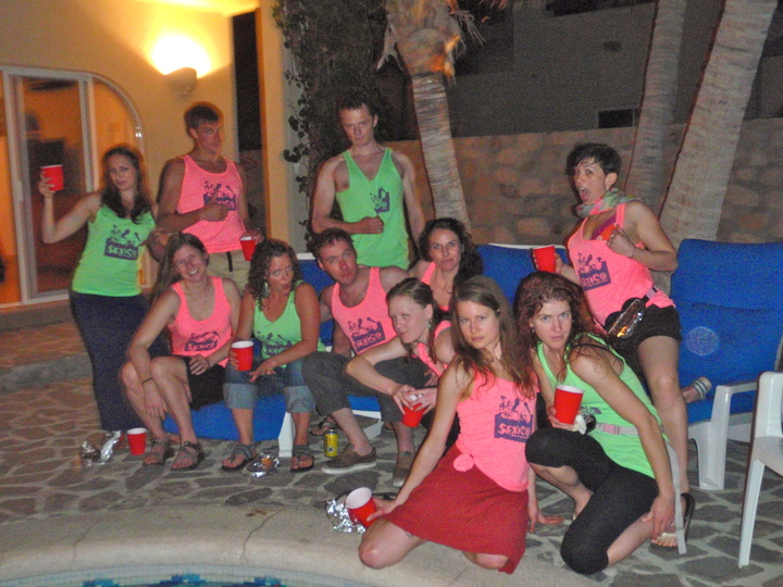 Best Suprise Wedding Gift Ever  Friends In Mexico With Custom Neon Tanktops! T-Shirt Photo