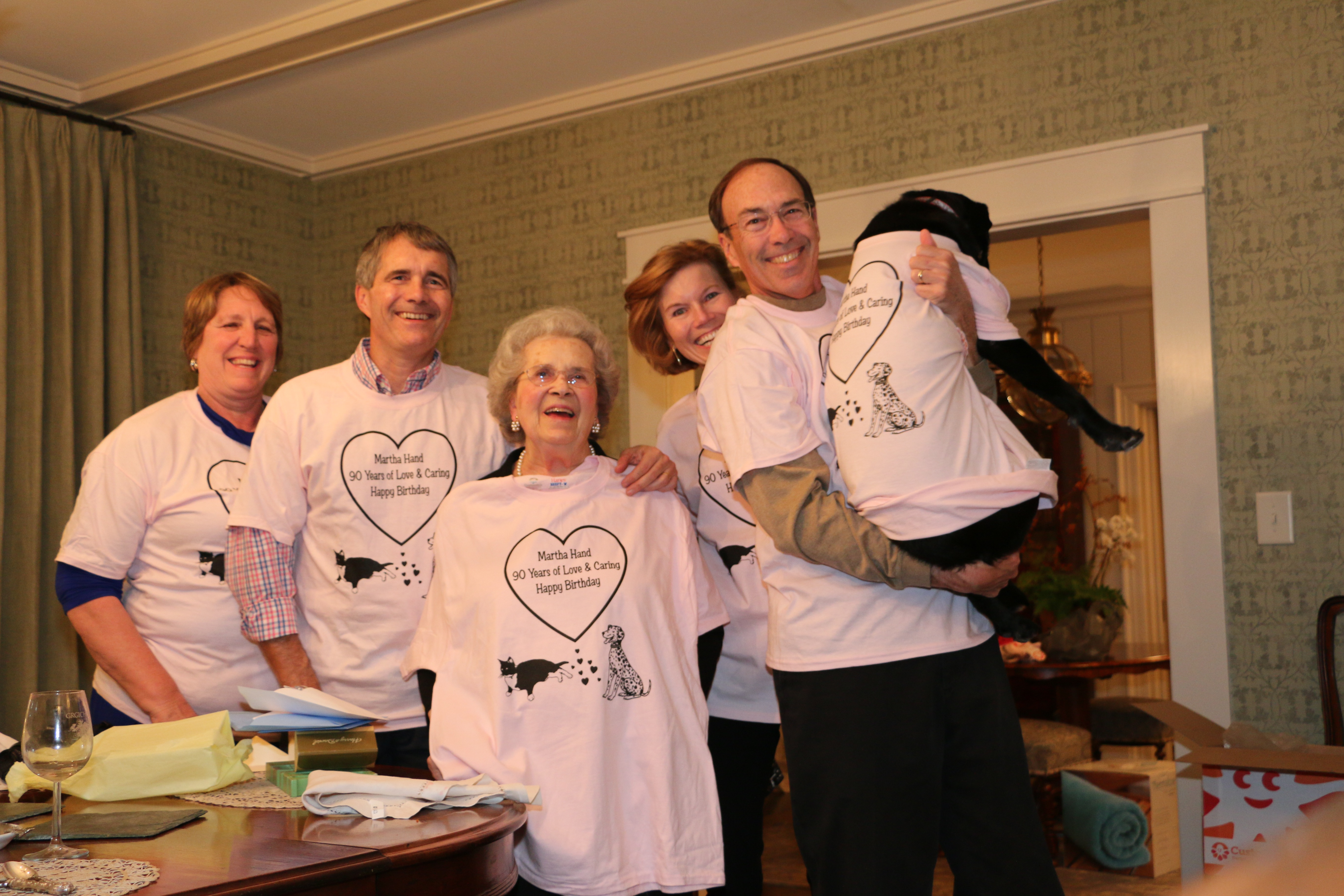 Marthas 90th Birthday Celebration With Family T Shirt Photo