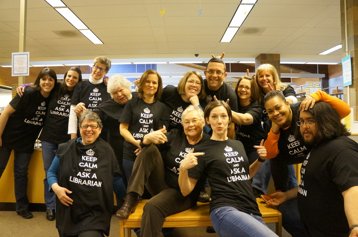 Keep Calm And Ask A Librarian T-Shirt Photo