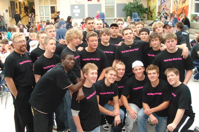 Football Players Supporting Breast Cancer Awareness T-Shirt Photo