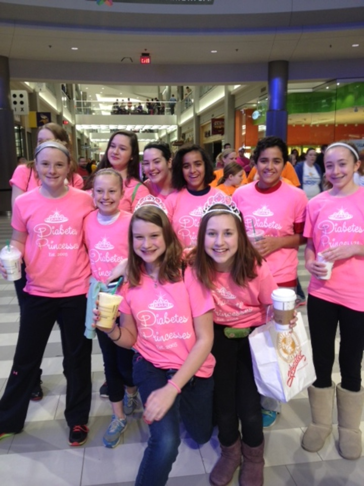 Diabetes Princesses Walk For A Cure! T-Shirt Photo