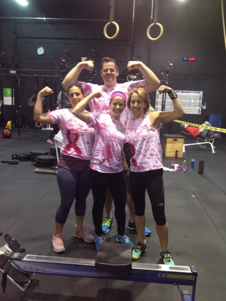 Burpees For Boobies Cfsb Throwdown T-Shirt Photo