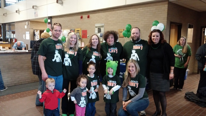 "St. Baldricks Event With Team ""Hairless For Henry"" T-Shirt Photo"