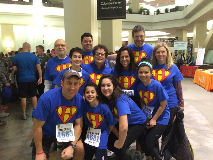 Harold's Heroes 2014 Big Climb For Leukemia T-Shirt Photo