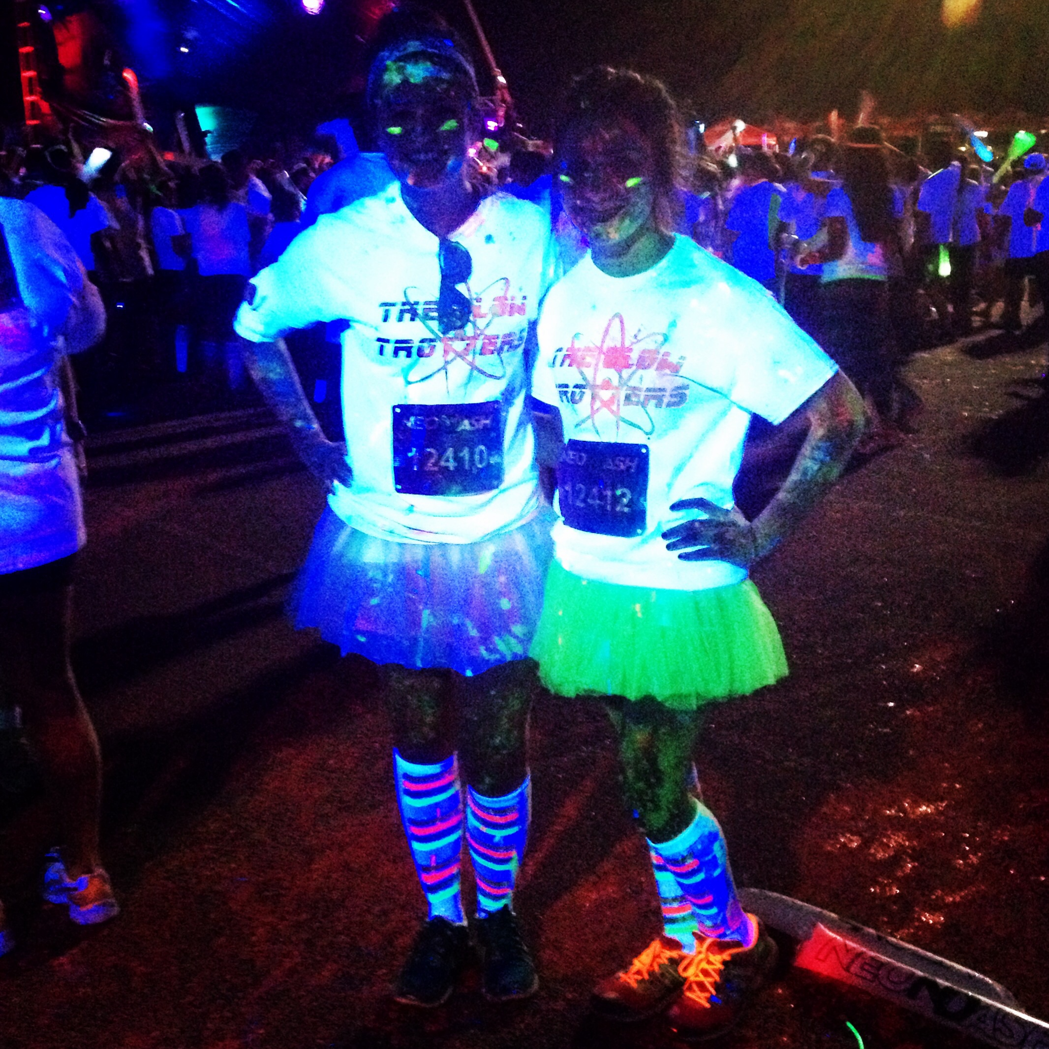 Custom T Shirts For The Glow Trotters Take On The Neon Dash In San