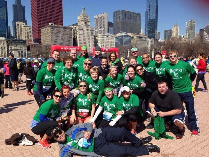 Team Ace'd It   2014 Shamrock Shuffle T-Shirt Photo