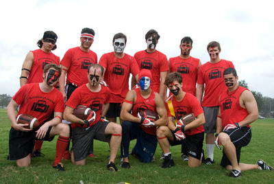 Mc Clugage's Luggage Flag Football Team T-Shirt Photo