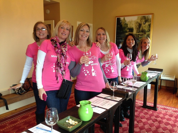 Girls Weekend Mountain Wining! T-Shirt Photo