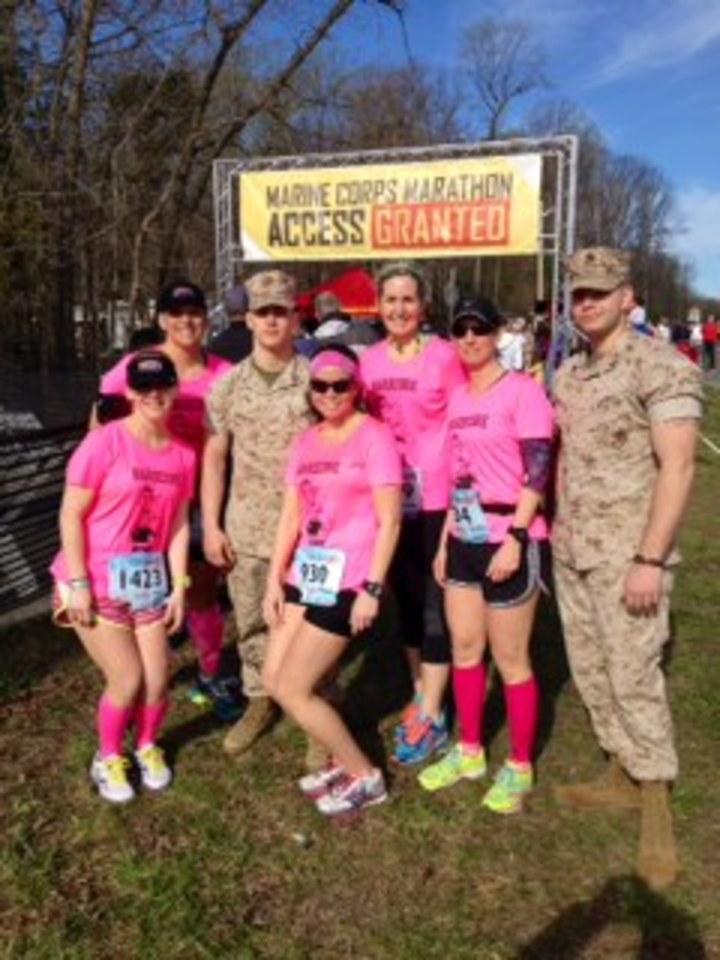 We Did It!  We're Marathon Bound In 2014! T-Shirt Photo