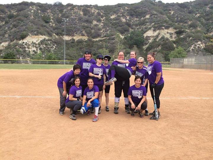 Looking 2 Score Softball T-Shirt Photo