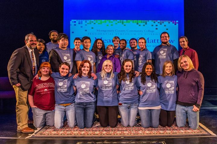 Cast  And Crew Of 'The Laramie Project' With Anti Hate Activist Judy Shepard T-Shirt Photo