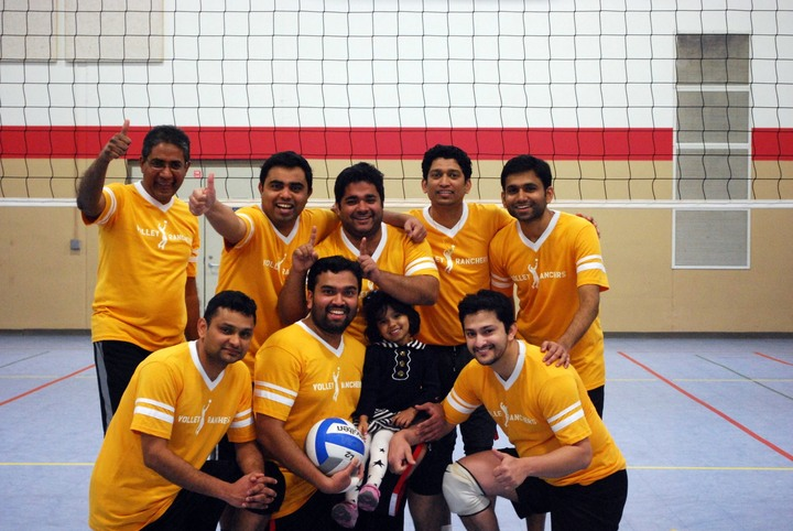 Volley Ranchers After An Awesome Show At The Mata 2014 Tournament T-Shirt Photo