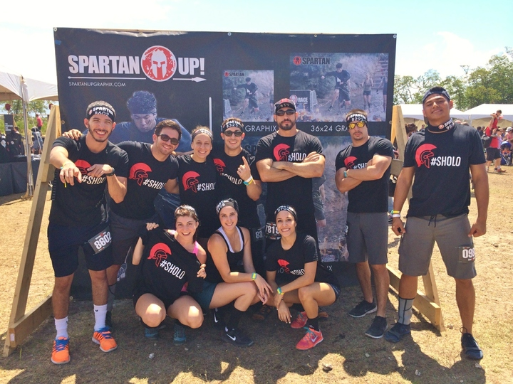 #Sholo Super Spartan Race Team Tees T-Shirt Photo
