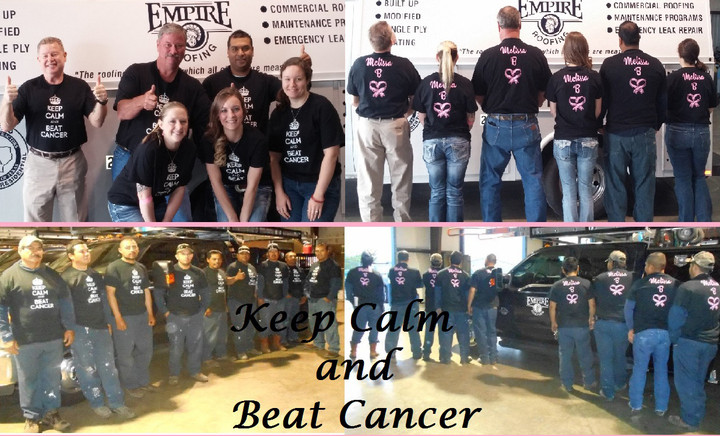 Keep Calm & Beat Cancer   Melissa B T-Shirt Photo