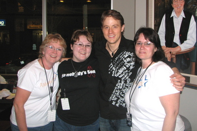 Fans Of Country Artist Aaron Lines Sporting Their New Shirts T-Shirt Photo