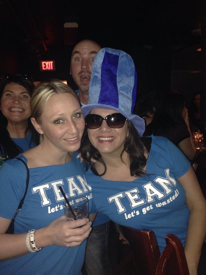 Team Lets Get Wasted Bar Brawl Pic With Photo Bombers T-Shirt Photo