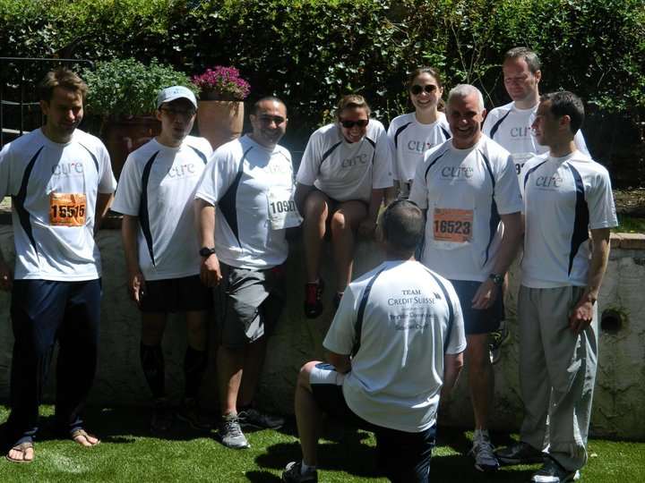 Team Credit Suisse For Cure Childhood Cancer T-Shirt Photo
