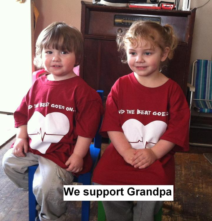 Grandpa's Support  T-Shirt Photo