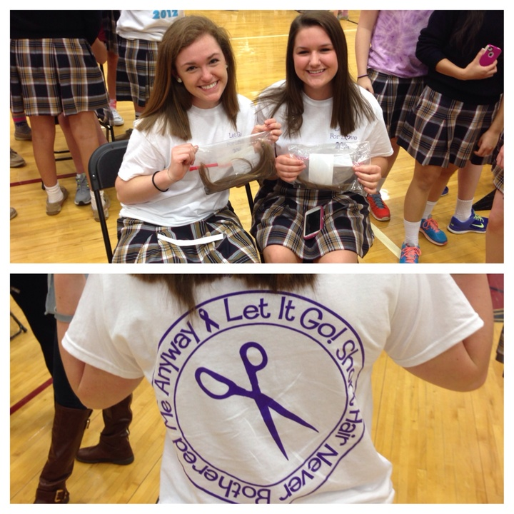 We Donated 8 Inches Of Hair! T-Shirt Photo