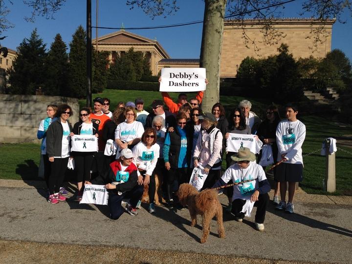 Debby's Dashers   Rollman Walk/Run For Ovarian Cancer 4 26 14 T-Shirt Photo