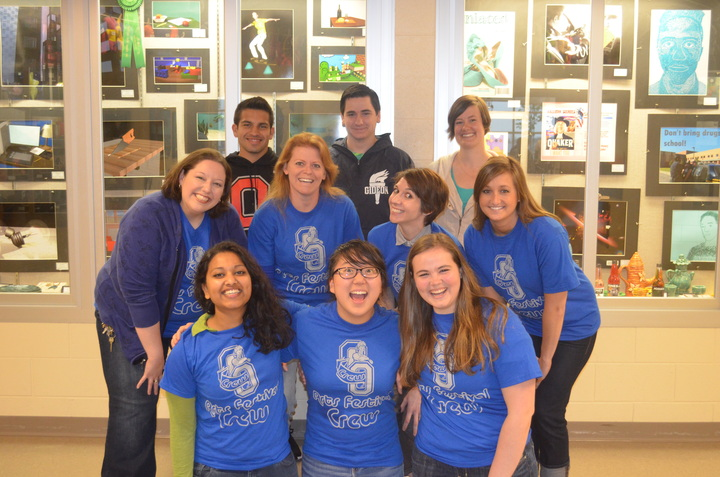 Teachers And Students Rockin' Our Arts Festival Crew Shirts! T-Shirt Photo