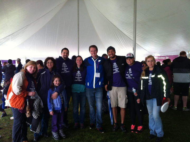 Team Pvda   March For Babies Walk 2014 Bristol, Ri T-Shirt Photo