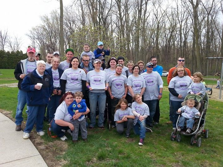 Our Team Walking For A Cure For Cystic Fibrosis  T-Shirt Photo