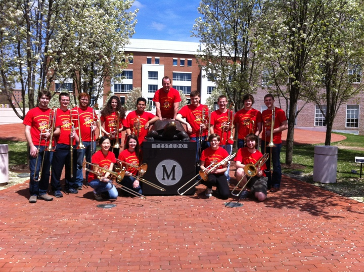 The University Of Maryland Trombone Choir T-Shirt Photo