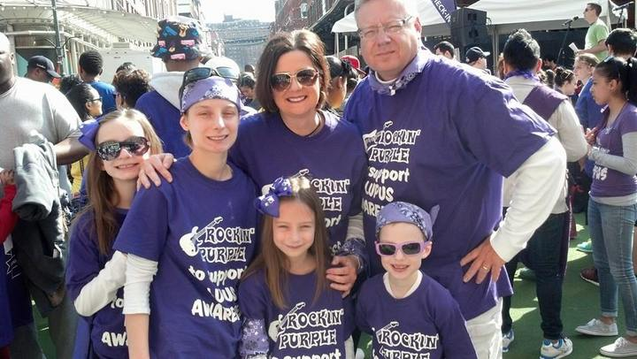 Rockin' Purple Nyc Walk For Lupus Awareness T-Shirt Photo
