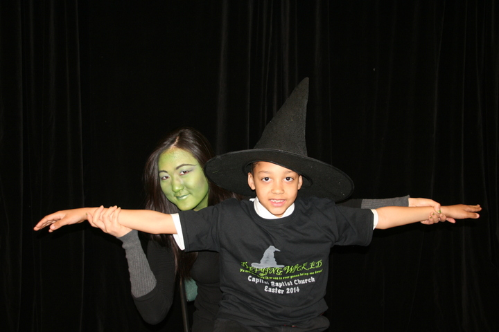 Elphaba Flying High With #1fan T-Shirt Photo