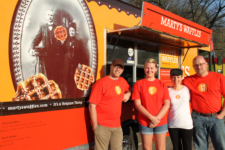 Marty's Waffles Food Truck Crew T-Shirt Photo