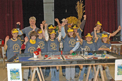 Team Teem Ready To Take On The Robot Challenge! T-Shirt Photo