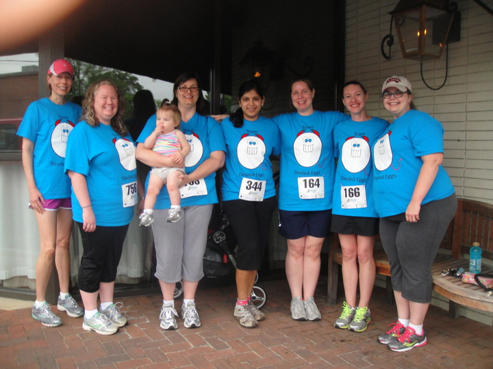Our Team For The Norma Livingston Ovarian Cancer Foundation Mother Walk T-Shirt Photo