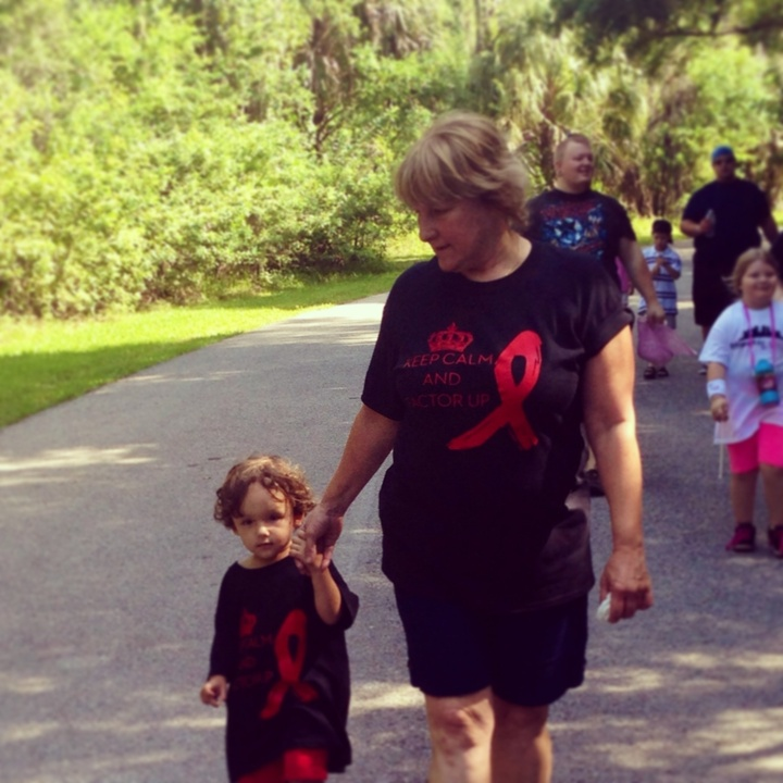 Eli Walking At The Hemowalk T-Shirt Photo