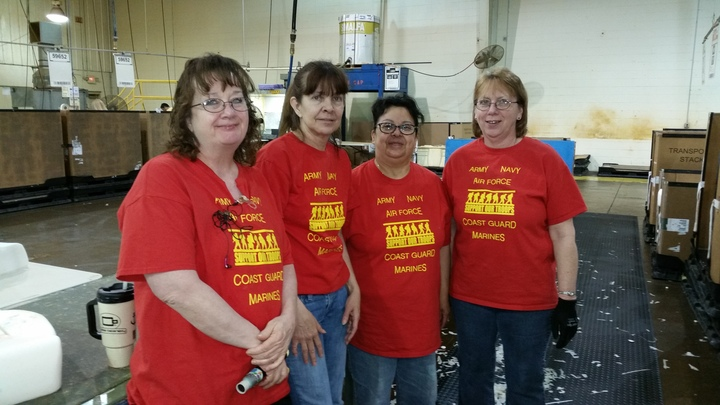 Wearing Red On Friday, Supporting Our Troops T-Shirt Photo