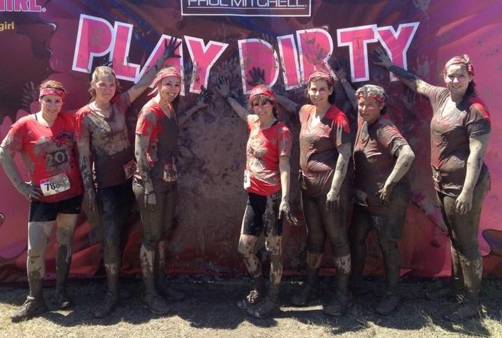 Dirty Girl Finish Line T-Shirt Photo