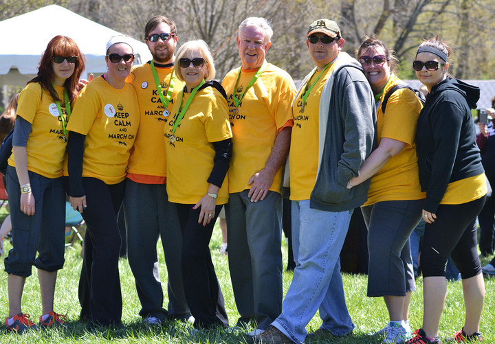 Team Ants Marching For Ms   Ridley Creek State Park, Media, Pa T-Shirt Photo