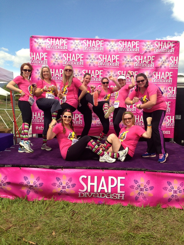 Adventure Friends At The Shape Diva Dash T-Shirt Photo