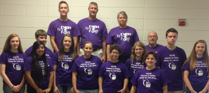 Achs Interact & Hosa Relay For Life Team 2014 T-Shirt Photo