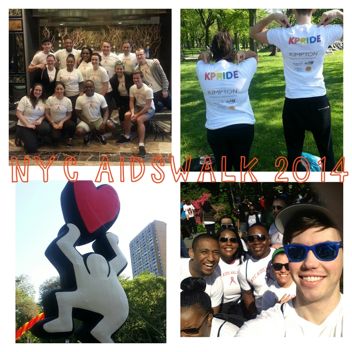 K Pride Represents At Aidswalk Nyc 2014 T-Shirt Photo