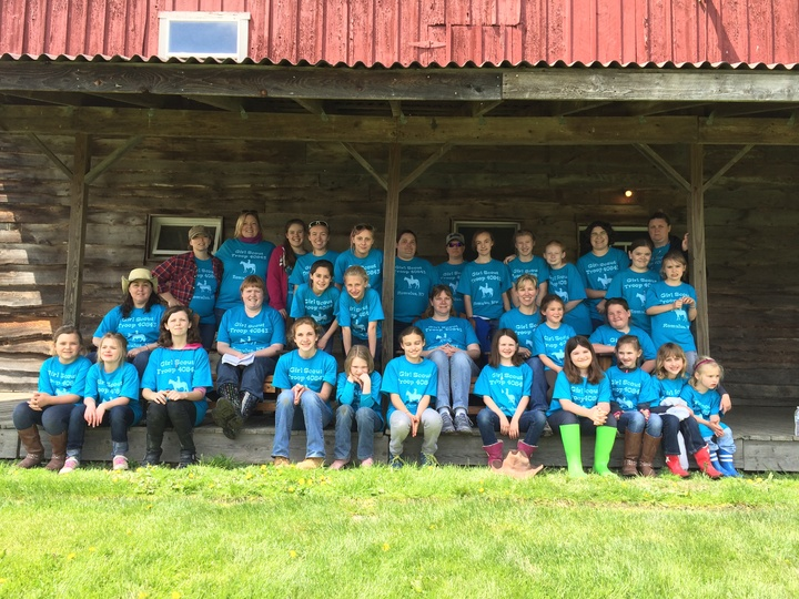Girl Scouts At Camp T-Shirt Photo