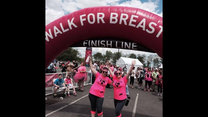 Finished The 2 Day 39.3 Mile Walk For Breast Cancer T-Shirt Photo