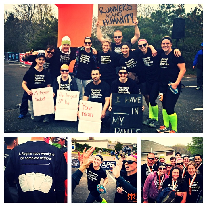 12 Stupid People Running A Long A$$ Race T-Shirt Photo