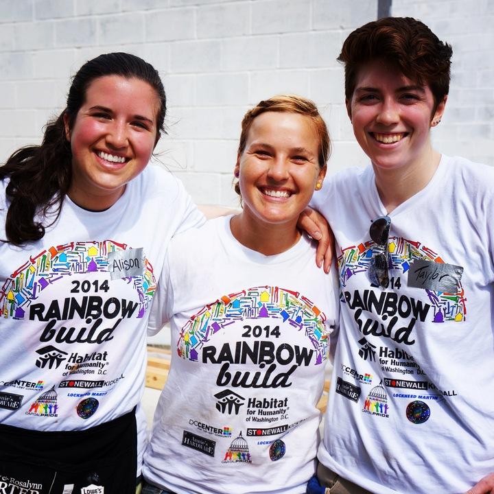Dc Habitat Rainbow Build 2014 T-Shirt Photo