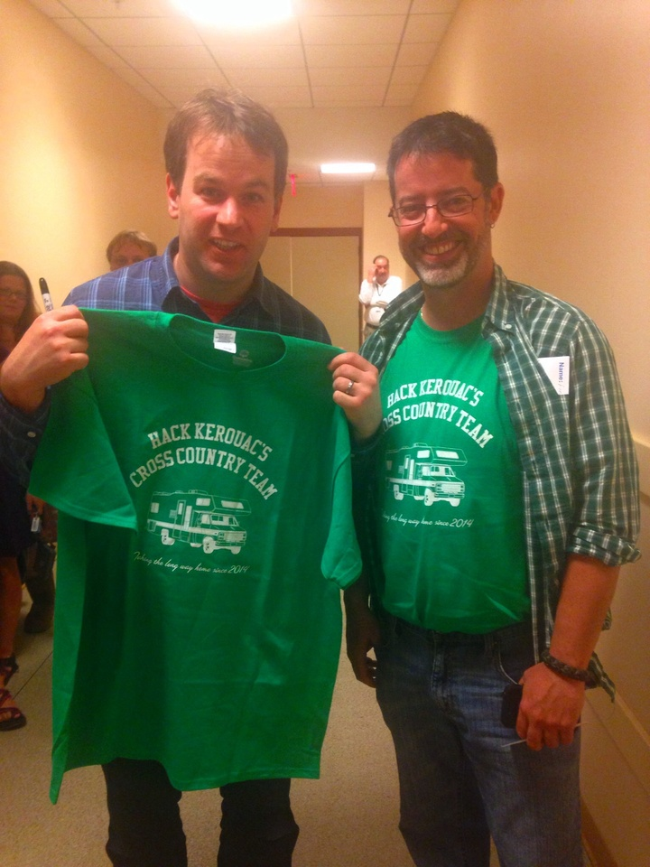 Mike And Hack Backstage T-Shirt Photo