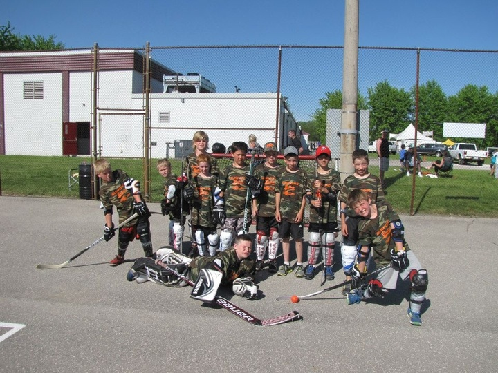 Friendship And Ball Hockey! T-Shirt Photo
