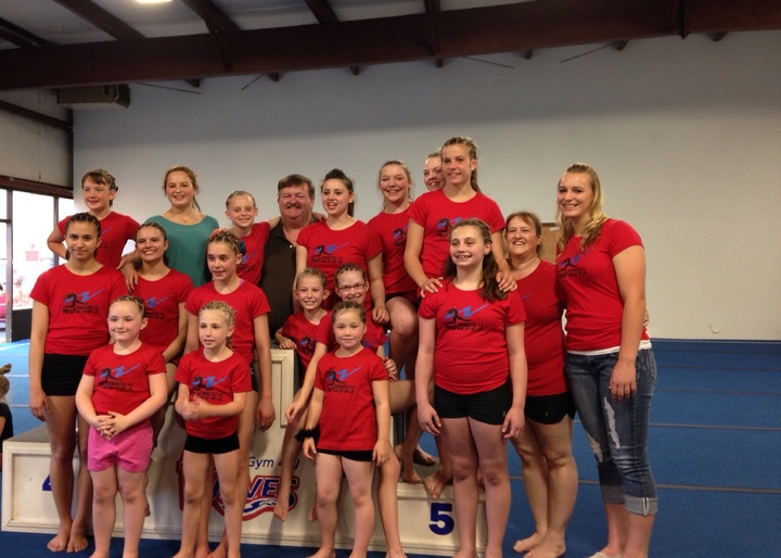 Gymnastics 4 U Waves Team T-Shirt Photo